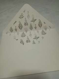 A5 envelope with leaf design