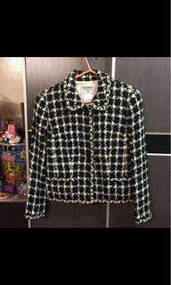 Chanel Vintage Jacket Black White Check CoCo 香奈兒 黑白 千鳥格