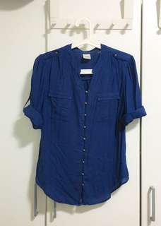 [On Sales] [Pre-loved] [Casual Modern] Navy Blue Top