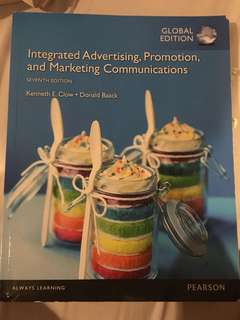 Integrated Advertising, Promotion, and Marketing Communications 7th Ed (Kenneth E. Clow) Pearson