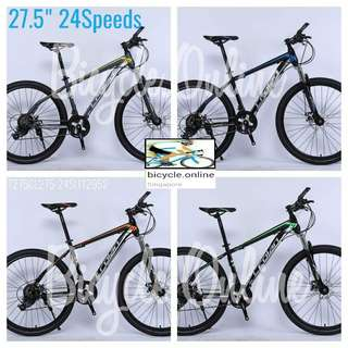 "New Arrival : 27.5"" CROLAN MTB / Mountain Bikes ☆ 24 Speeds ✩ Disc brakes, Front suspension ✩ Brand new bicycles *T275CL2724St112952"