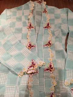 Vintage Kebayas with rare butterfly (light blue)