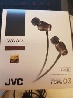 JVC HA-FW 03 CLASS - S WOOD series Canal type earphone for high resolution sound source