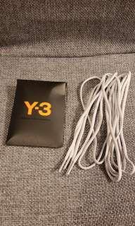 Y3 灰色原裝鞋帶 $25,約156cm長, 價錢巳包平郵,不面交