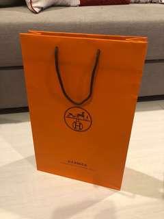 Hermes paper bag medium