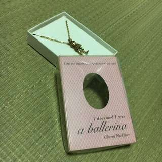 Vintage Ballerina Charm Necklace