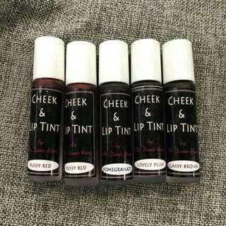 Lip and cheek tints