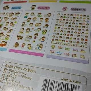 Korean little girl set sticker decoration
