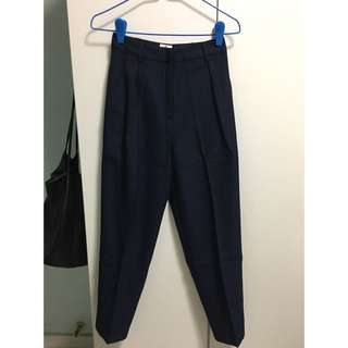 AFA LUCKY STRIKE CIGARETTE TROUSERS IN NAVY (SIZE XS)