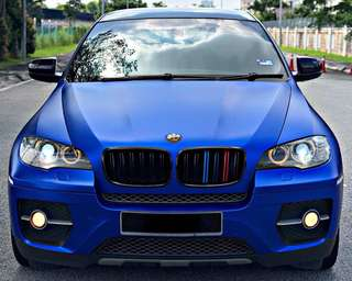 SAMBUNG BAYAR  BMW X6 3.0 DIESEL TWIN TURBO YEAR 2008/2013 MONTHLY RM 3052 BALANCE 4 YEARS ROADTAX NOV 2018 HIGH SPEC 3M SATIN BLUE WRAP VACUM DOOR PADDLE SHIFT POWER BOOT TIPTOP CONDITION  DP KLIK wasap.my/60133524312/x6