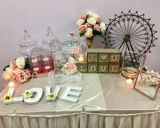 Peony Wedding: Candy Bar + Photo Table [Rental Package] Like facebook 9折優惠
