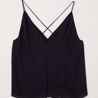 H&M V Neck Black Cami