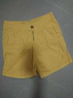 日本直送黃色短褲/休閒褲