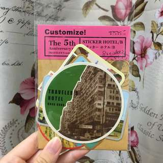 Vintage Travel Hotel Stickers