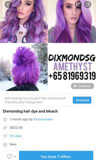 hair bleach and dye