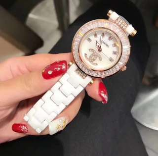 Chanel Ceramic Watch with Stone