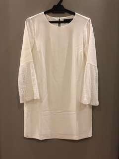 Zara White Lace Dress Size S