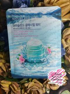 iceland watery and snail mask sheet