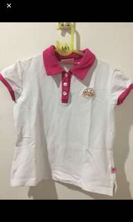 Barbie White and Pink Polo