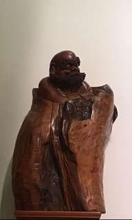 達摩 木雕 藝品