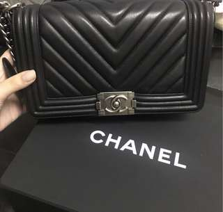 Chanel Leboy Medium Lambskin V shape