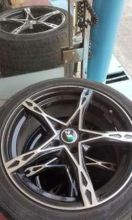 A pair of car rims