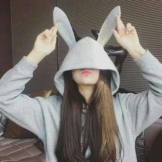 Rabbit Hat Hooded Hoodie/Sweater