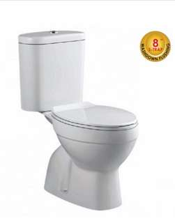 Brand New Close Coupled Toilet Bowl - (200mm-S Trap)