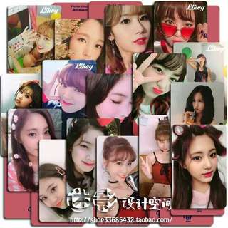 Twice LIKEY broadcast photocard (unofficial)