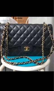 Chanel Classic Double Flap in Jumbo & Caviar