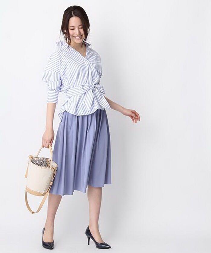 日本雜誌熱賣款 可雙面著雙色長裙傘裙 薰衣草紫色和灰色 返工 OL 去飲謝師宴 grad din