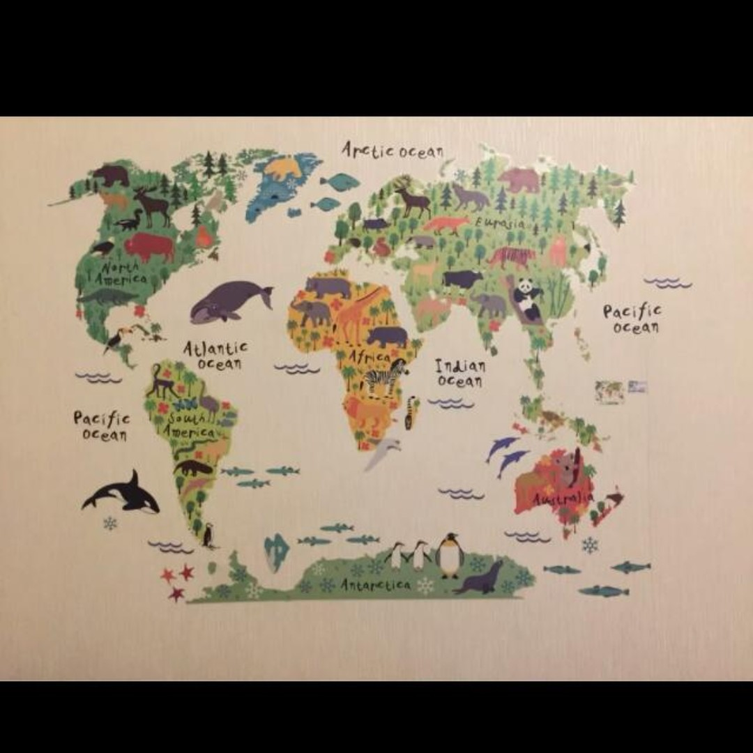 High Positive Rating ] Colorful World Map Wall Sticker Decal Vinyl ...