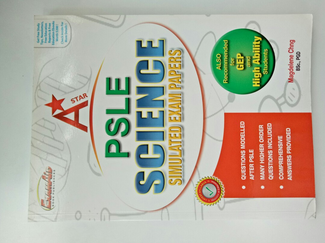 A Star psle science exam papers, Books & Stationery