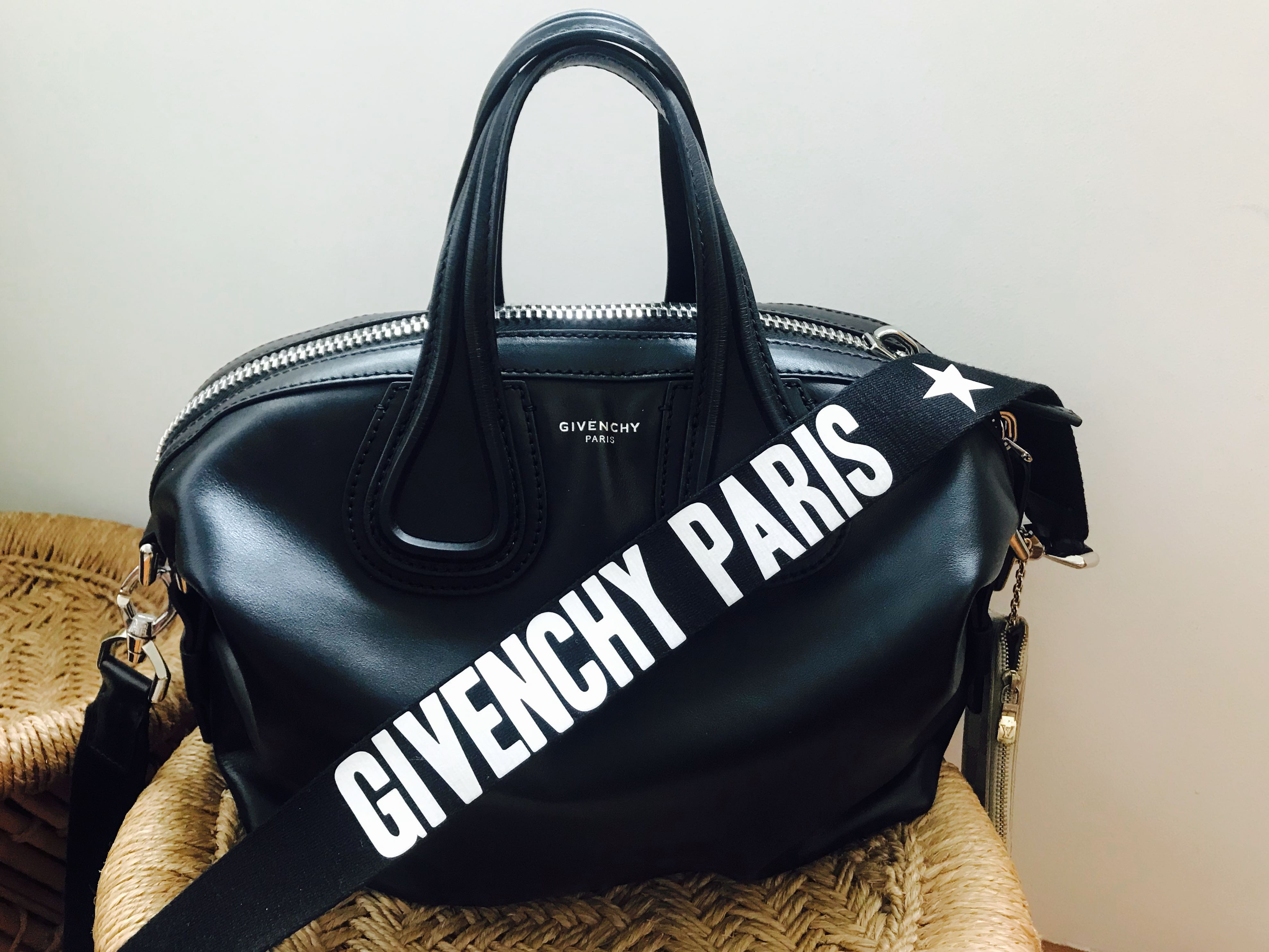 642ad7f9db8 ☑️Authentic GIVENCHY Nightingale Black Small Limited Ed. (Logo Strap),  Luxury, Bags & Wallets, Handbags on Carousell