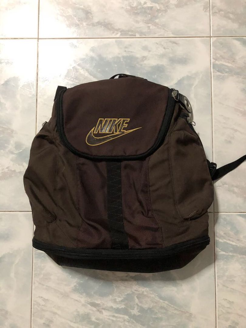 ef1d1f9a3f5 Authentic Nike Brown Backpack with Shoe compartment