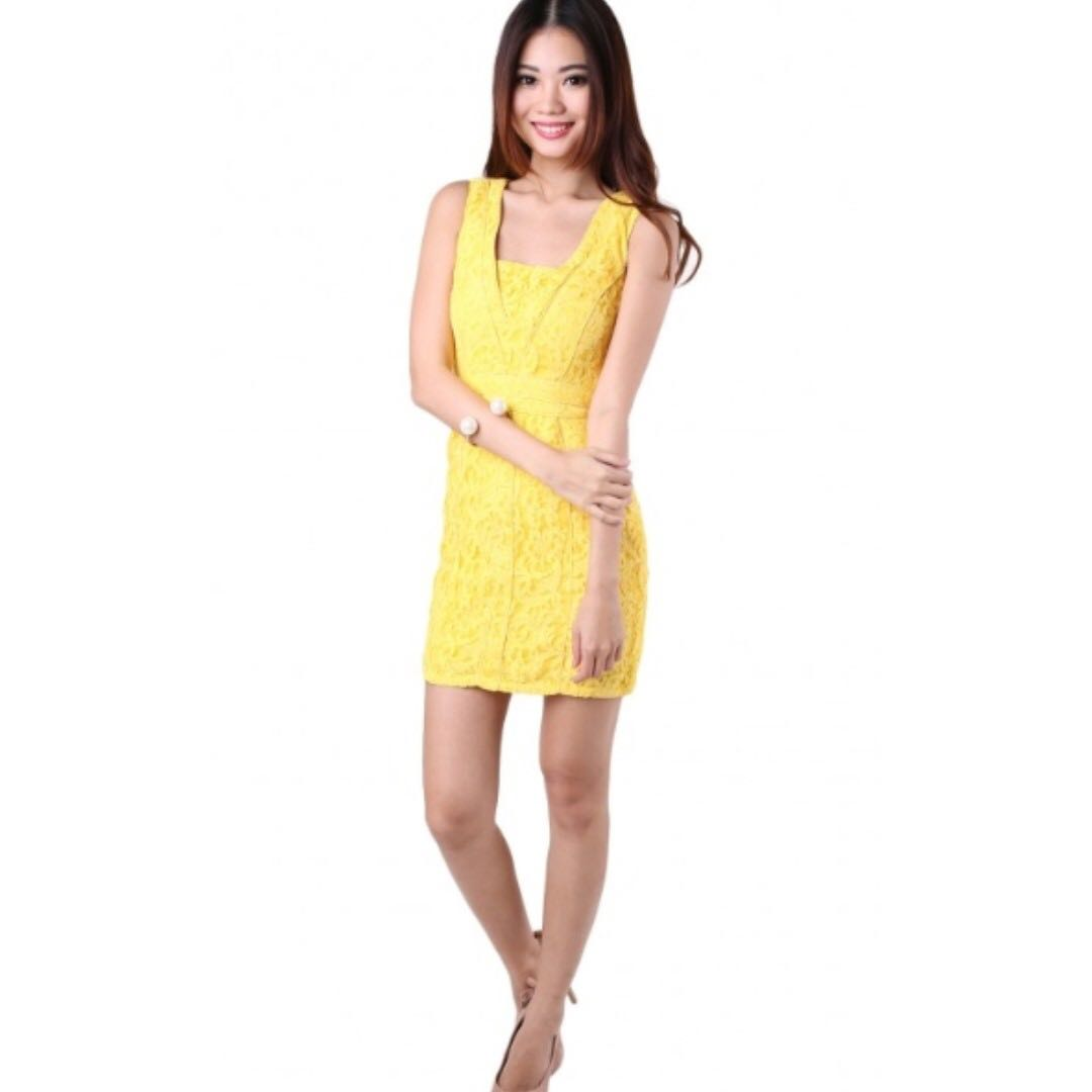 21e3067a115 Brand new MGP KATERINA LACE DRESS IN YELLOW