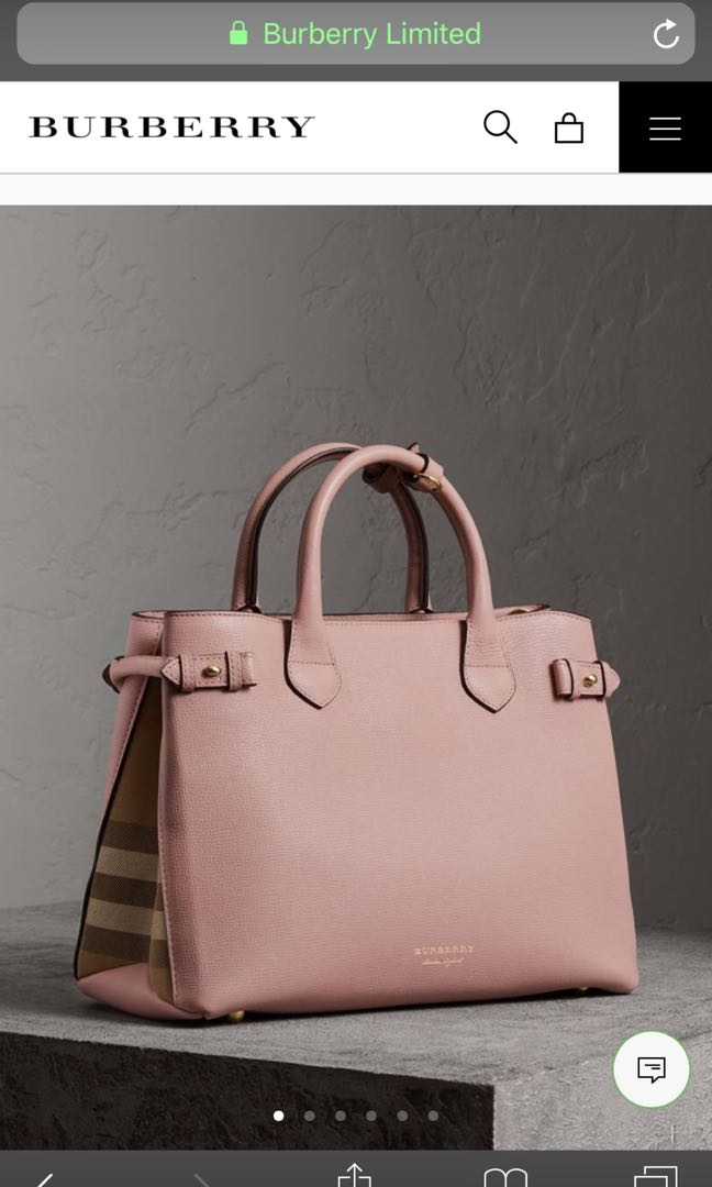 6f05b32b5b Burberry House Check Derby Leather Medium Banner Tote, Women's Fashion, Bags  & Wallets, Handbags on Carousell