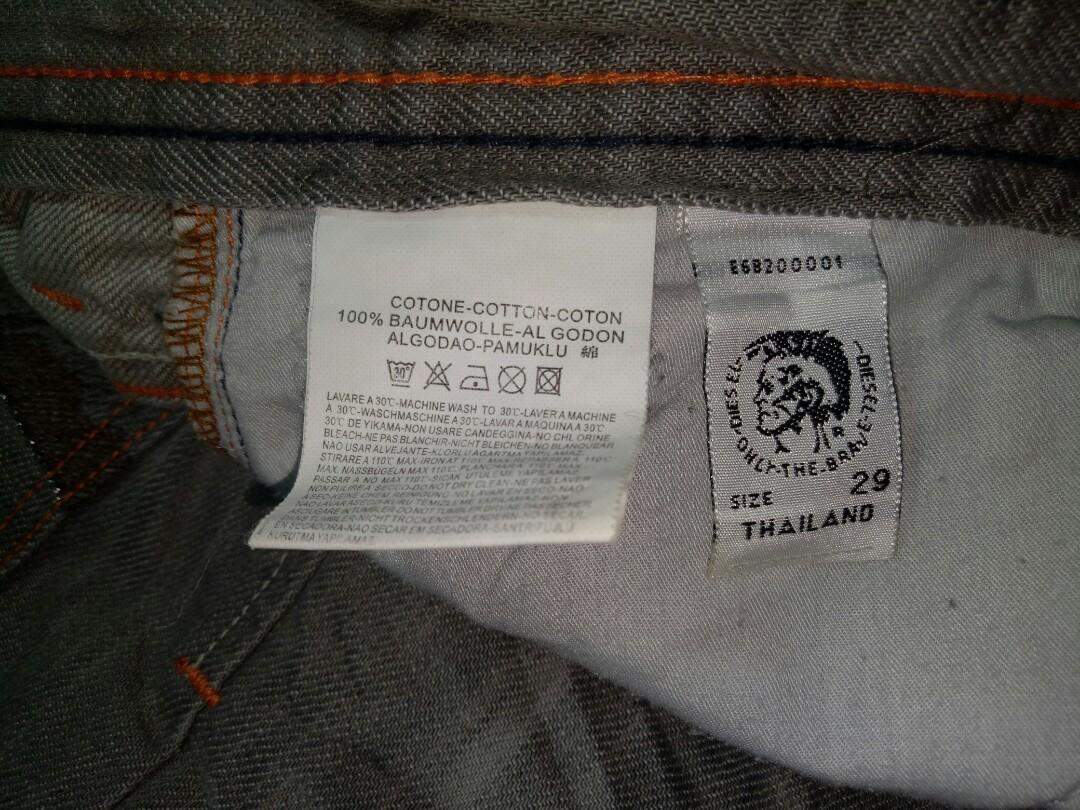 Celana panjang pria jeans Diesel Industry Denim Devision