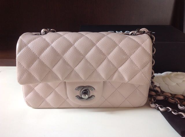 1a1c5eb142d Chanel mini rectangular baby pink caviar, Women s Fashion, Bags   Wallets,  Handbags on Carousell