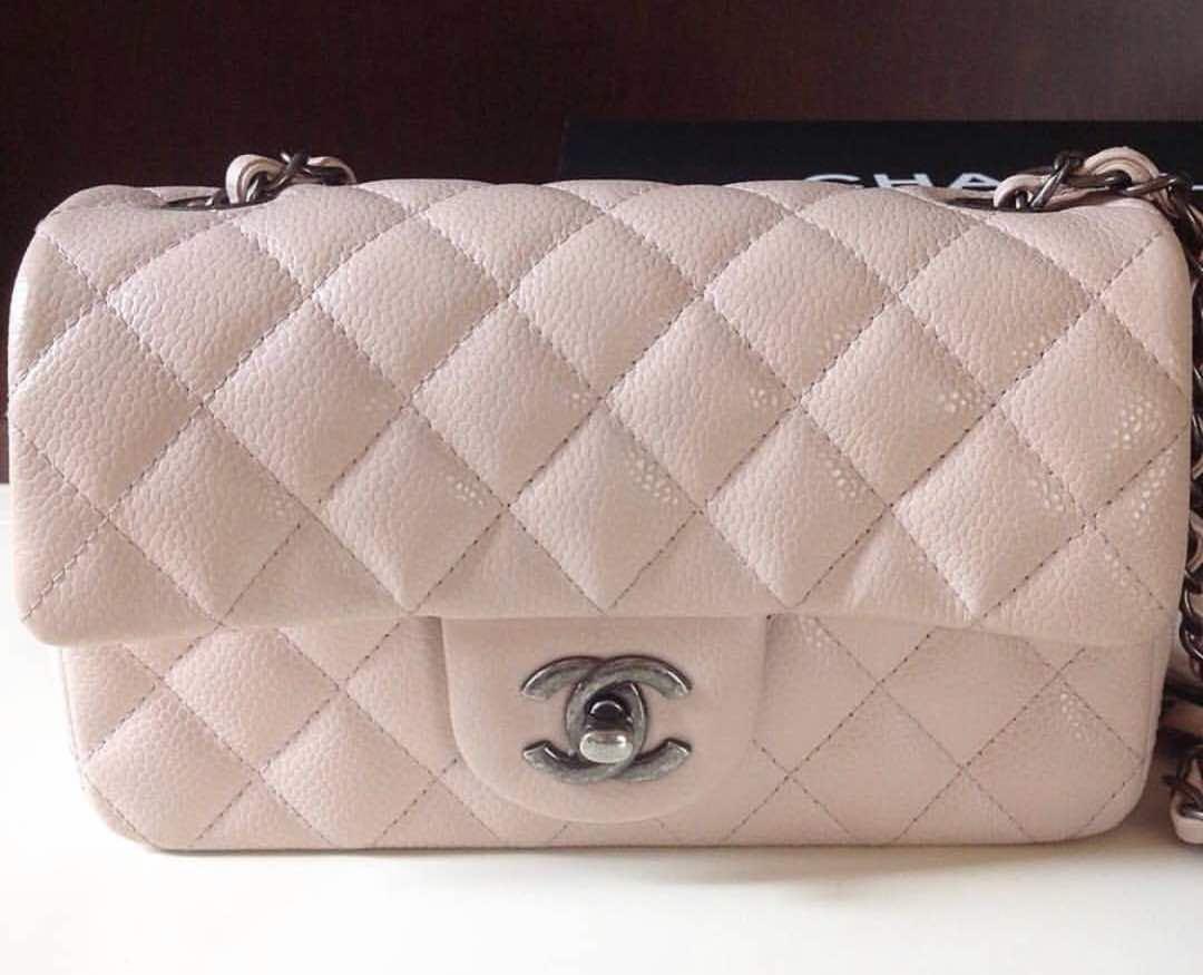 1f6d7b43 Chanel Mini Rectangular Light Pink Caviar, Luxury, Bags & Wallets ...