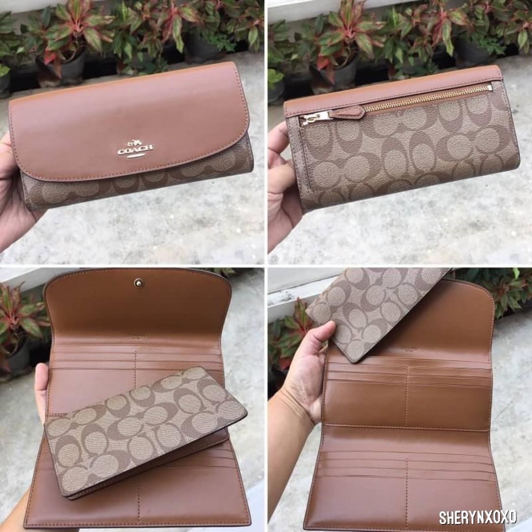 10959c9915f83 Coach Checkbook Wallet in Signature  F57319
