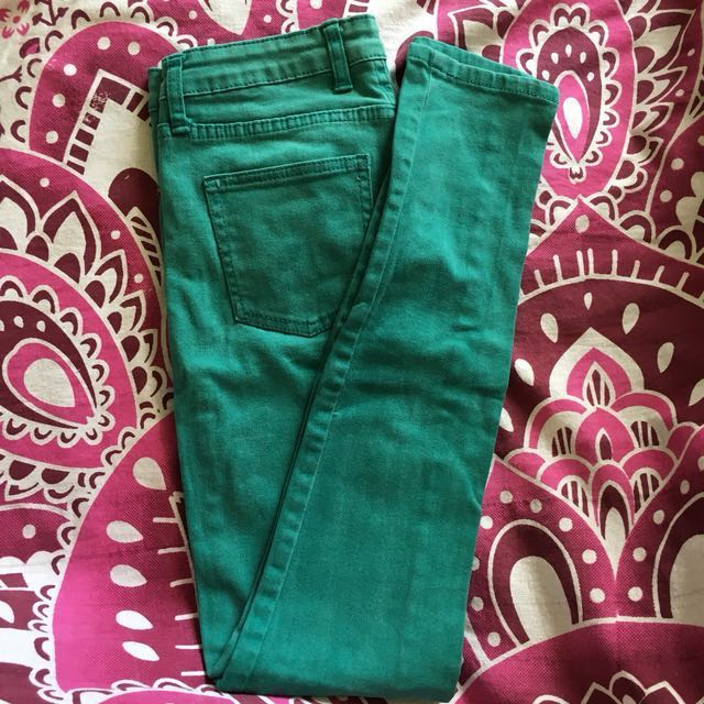 Cotton On Skinny Jeans Green/Turquoise?
