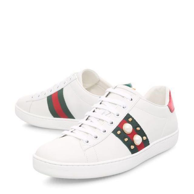 a09f6b54bfd Gucci Pearl Studded Sneakers Tokyo Exclusive