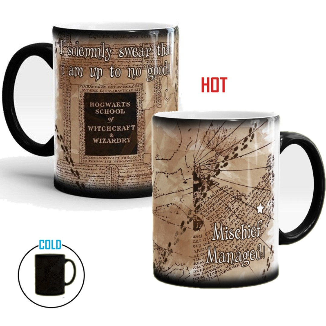 Harry Potter I Solemnly Swear Mischief Managed Map Mug Cup D12
