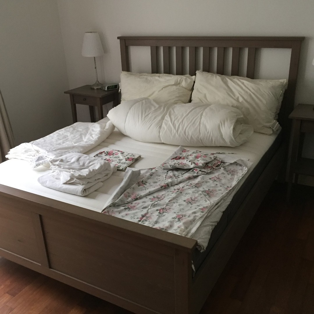 Awesome Ikea Hemnes Queen Size Bedroom Set Furniture Beds Home Interior And Landscaping Palasignezvosmurscom