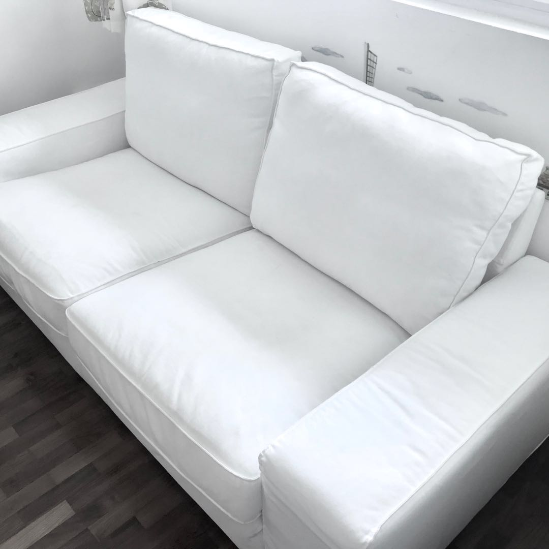 Strange Ikea Kivik 2 Seater Sofa White Furniture Sofas On Carousell Evergreenethics Interior Chair Design Evergreenethicsorg