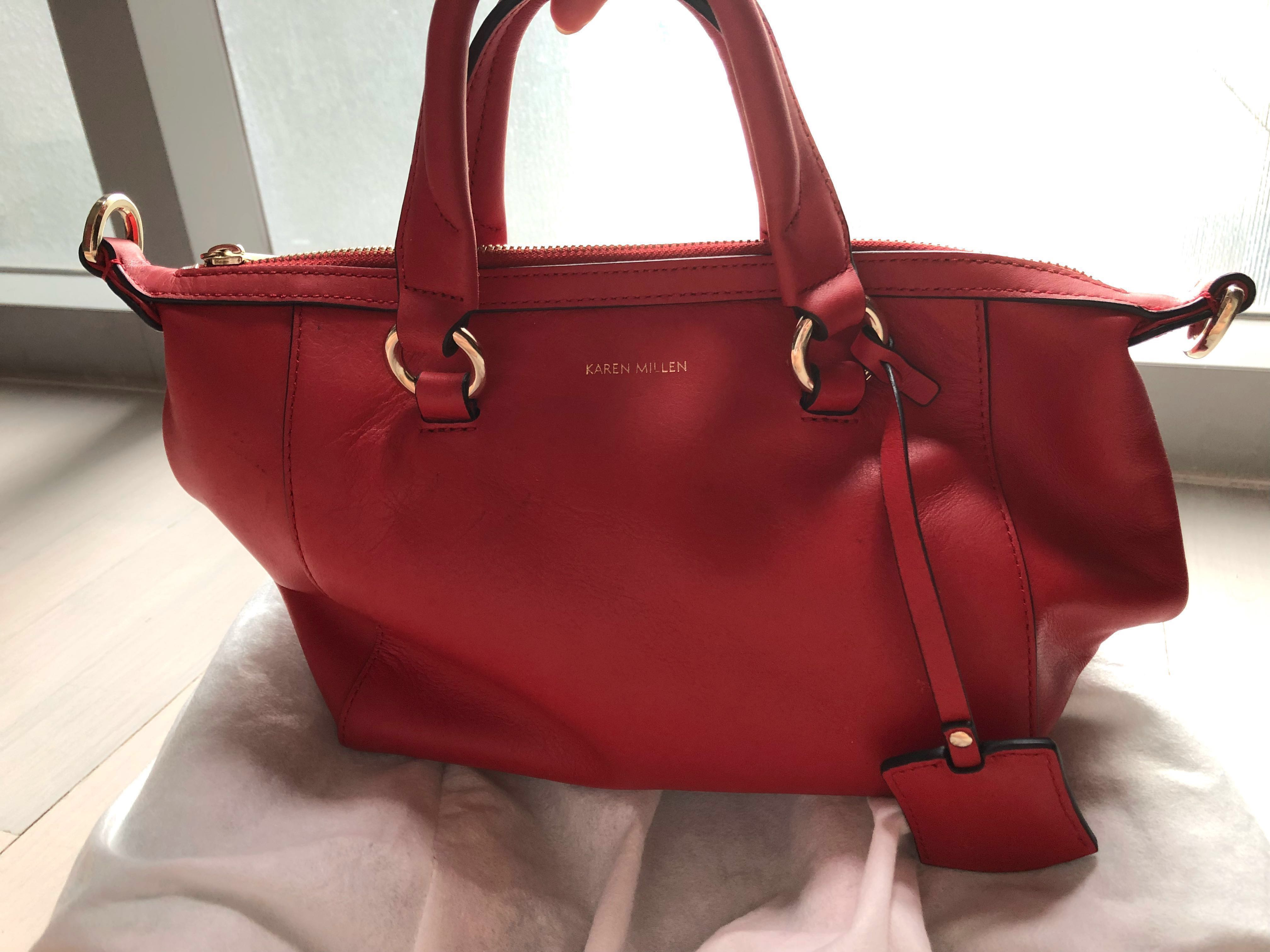 13cf41ba9d Karen Millen chilli red handbag with sling, Women's Fashion, Bags &  Wallets, Handbags on Carousell
