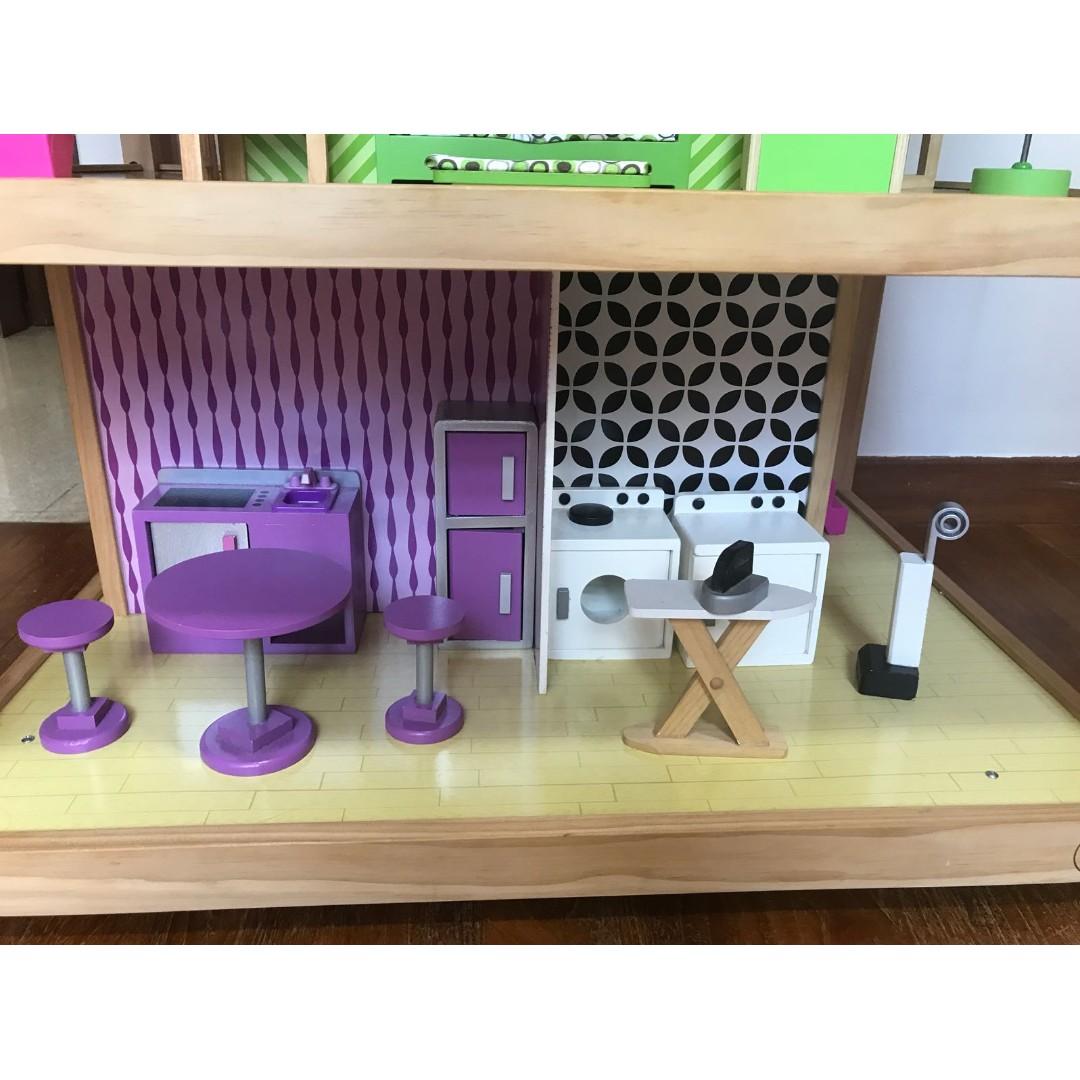 Kidkraft So Chic Dollhouse With Furniture Toys Games Bricks