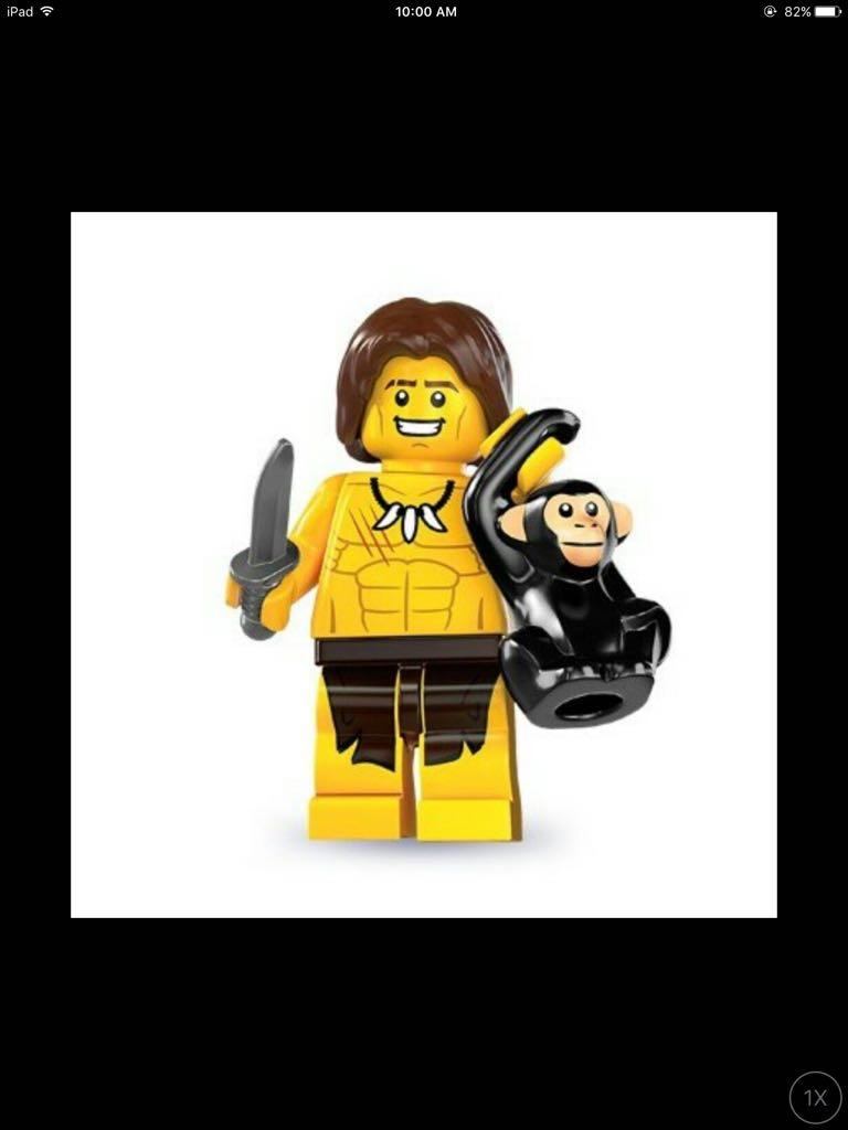 LEGO SERIES 7 JUNGLE BOY GOOD CONDITION