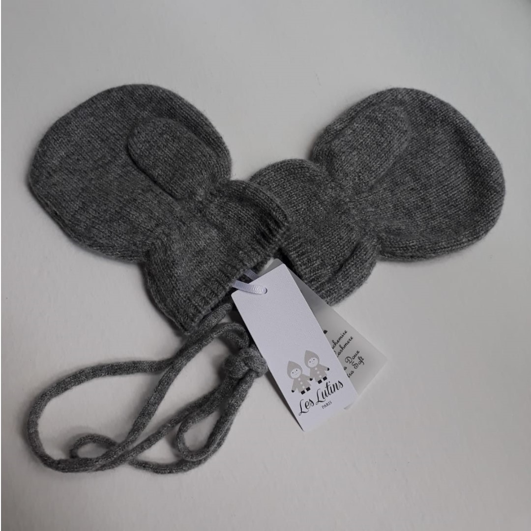 ac9261ebd5f LES LUTINS Paris 100% Cashmere - New Baby Gloves 0 6months - Made in ...